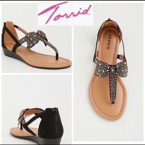 Torrid black bow Sandal 9W
